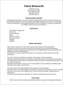 Personal Resume Template Professional Personal Banker Resume Templates To Showcase Your Talent Myperfectresume
