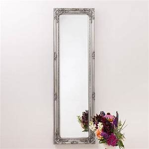 ornate vintage silver pewter mirror full length by hand ...