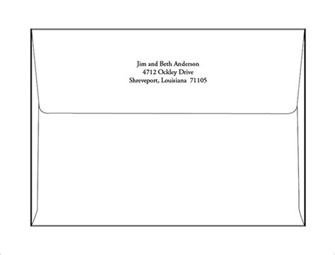 Template For Printing Envelopes by Envelope Printing Template Doliquid