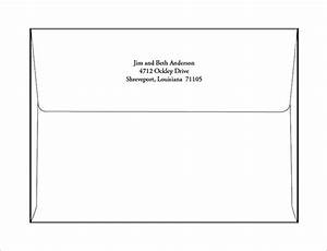 Envelope printing template doliquid for Printable envelope template word