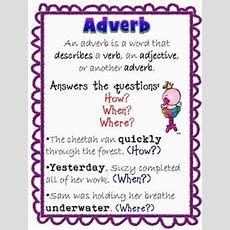 Adverbs & Adjectives Freebie  Writing  Pinterest  Anchor Charts, Charts And Anchors