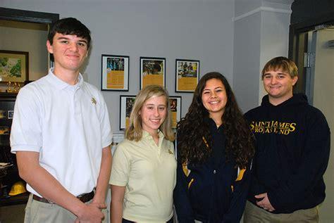 stj band members selected college honor bands saint james school