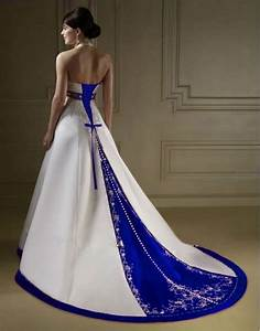 Beautiful photos of royal blue wedding dresses sang maestro for Royal blue wedding dresses
