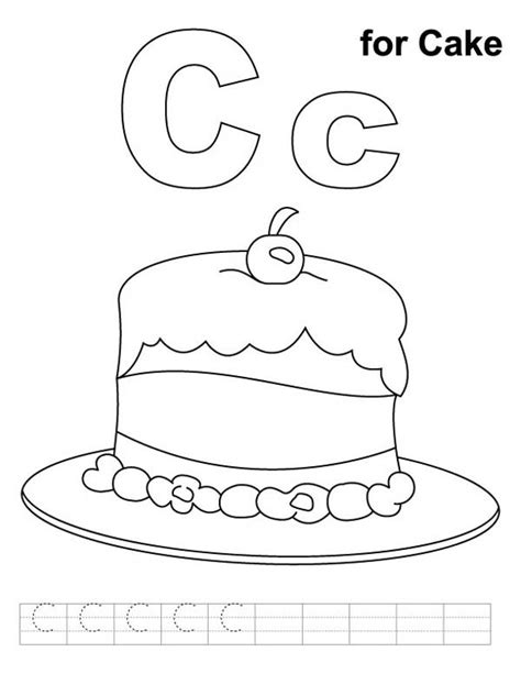 C Is For Cloud Coloring Page Twisty Noodle Letter C Coloring Pages Printable Coloring Pages