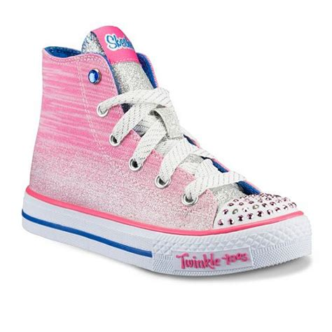 skechers kids light up shoes skechers twinkle toes shuffles splendorific kids pink blue