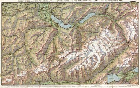 map view relief karte des berner oberlandes