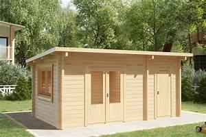 Schuppen Aus Holz : kombiniertes gartenhaus und schuppen super tom 15m2 44mm ~ Michelbontemps.com Haus und Dekorationen