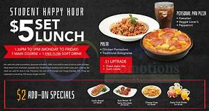 Pizza Hut $5 Set Lunch Student Happy Hour Dine-in ...