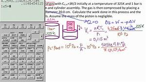 Calculate Work And Movement Of Piston Ex1