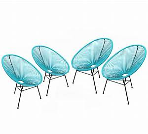 Salon De Jardin Acapulco : lot 4 fauteuils acapulco bleu turquoise 369 salon d 39 t ~ Teatrodelosmanantiales.com Idées de Décoration