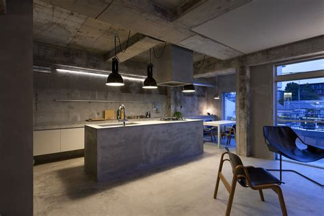 unfinished kitchen island concrete house with and an eye for fashion
