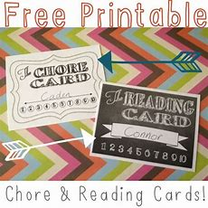 Salt And Pepper Moms Printable Chore & Reading Punch Cards  After Their Card Is Completely