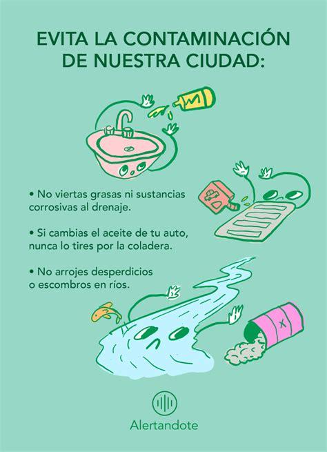 Medidas para no contaminar el agua Alertándote Alerta