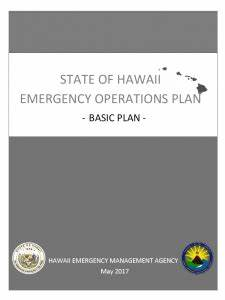 Hawaii Emergency Management Agency | Plans and Planning ...