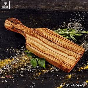 Olive, Wood, Board, With, Handle