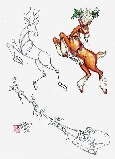 drawn dear drawing picture pencil   color drawn