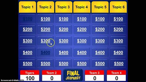 jeopardy quiz template powerpoint software