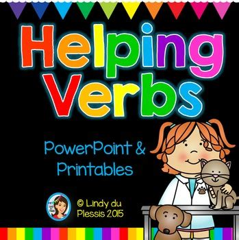 helping verbs powerpoint  worksheets  lindy du