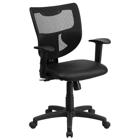 mid back designer back task chair with adjustable height