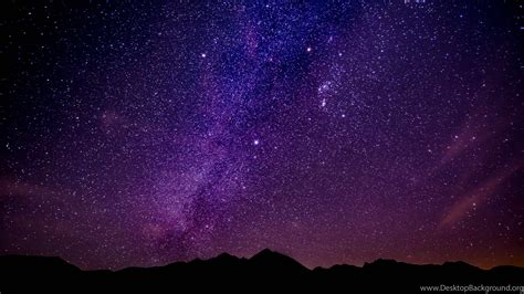 Wallpapers Night Stars Milky Way Mountains Desktop