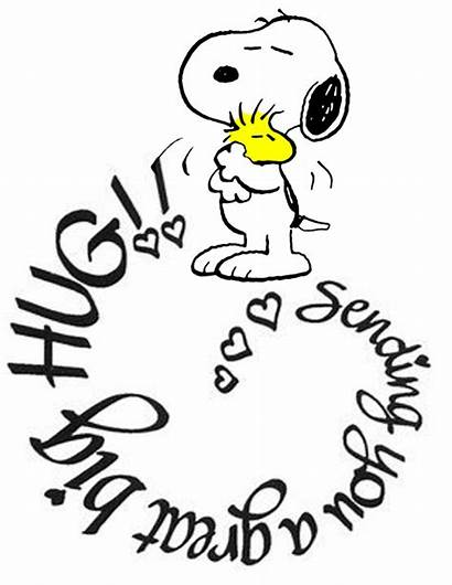 Hug Snoopy Sending Quotes Woodstock Friend Birthday