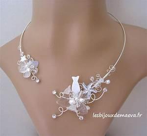 bijoux mariage collier blanc theme mer With magasin mariage avec bijoux or blanc