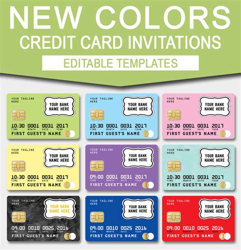 credit card invitation mall scavenger hunt invitations