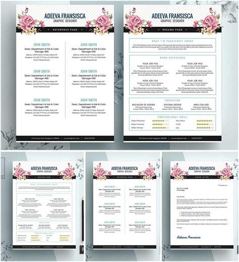 vintage feminine resume template free