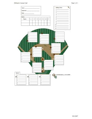 Baseball Depth Chart Template