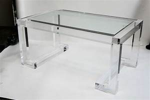 Acrylic and glass coffee table at 1stdibs for Acrylic and glass coffee table