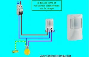 schema branchement cablage detecteur de mouvement youtube With comment installer un projecteur exterieur 13 schema electrique brancher un interrupteur simple
