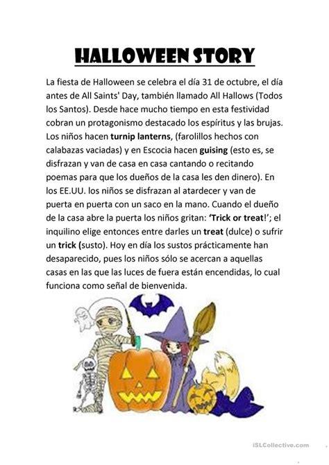 halloween story worksheet  esl printable worksheets