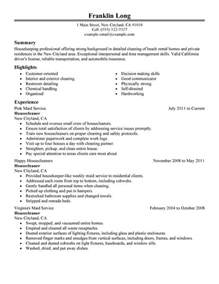 housecleaners my resume