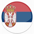 Serbia icons, free icons in Flat Round World Flag Icon Set ...