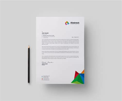 abstract modern corporate letterhead template