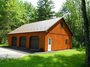 custom pole building garage precise buildings With custom built metal buildings