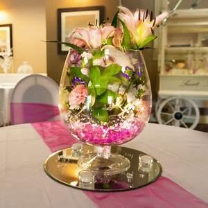 Vase En Verre Pas Cher : vase cognac centre de table decoration mariage badaboum ~ Teatrodelosmanantiales.com Idées de Décoration