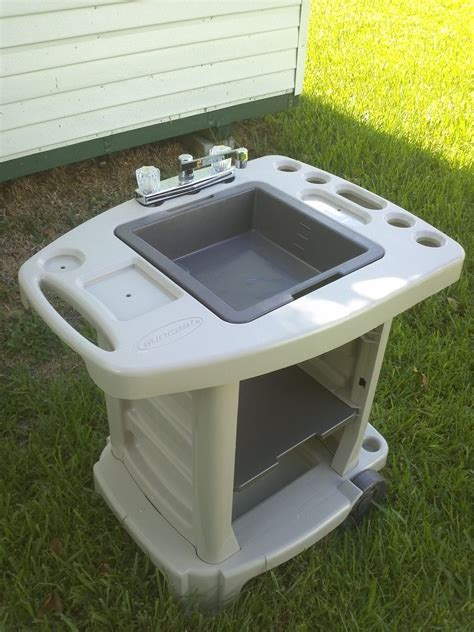 Portable Outdoor Sink Garden Camp Kitchen Camping Rv New