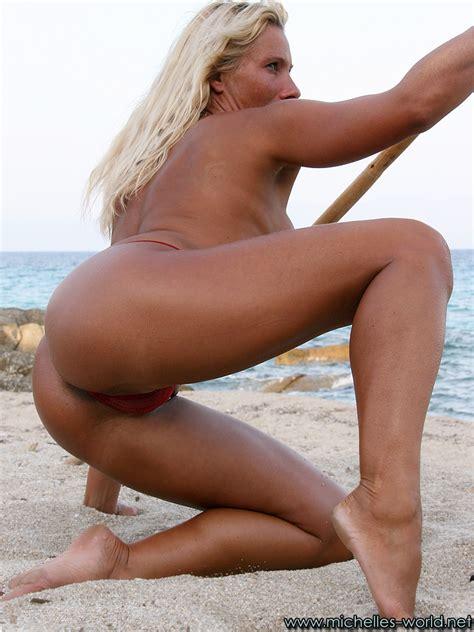 Pole Dancing Nude On The Beach