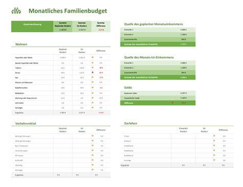 Hier kostenlose excel budget vorlagen. Budgetplaner Familie