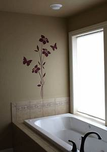 art wall decor bathroom wall stickers With wall art stickers for bathrooms