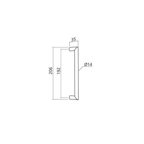 paire de poign 233 es moderne de porte coulissante diam 14 mm