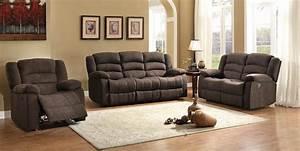 Homelegance Greenville Reclining Sofa Set Chocolate