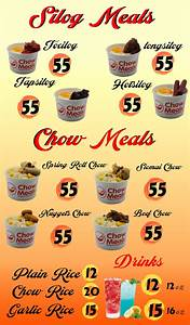 Chow Meals  Silog  U0026 Rice Toppings Food Cart Franchise