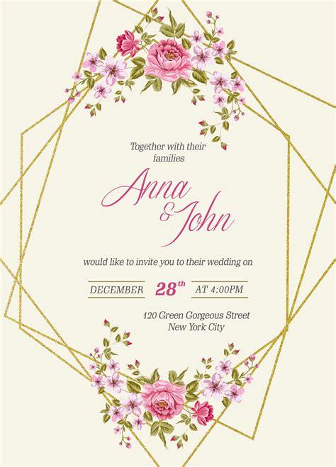 Free Wedding Invitation Card Template And Mockup Psd