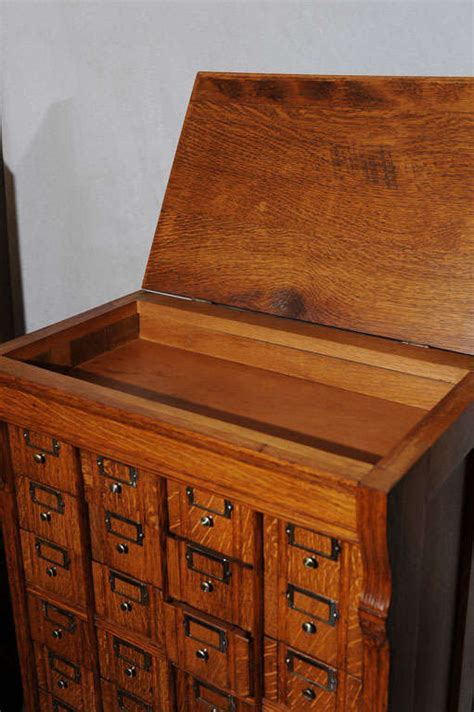Unusual Multi Drawer Oak File Cabinet at 1stdibs