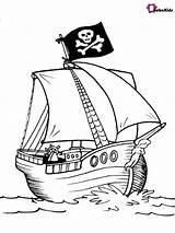 Pirate Ship Coloring Printable Sheets Bubakids Piraten Colorare Ausmalbilder Kleurplaten Cartoon Barca Nave Kleurboeken Gratis Disegnidacolorare Ausdrucken Barche Navi Zum sketch template