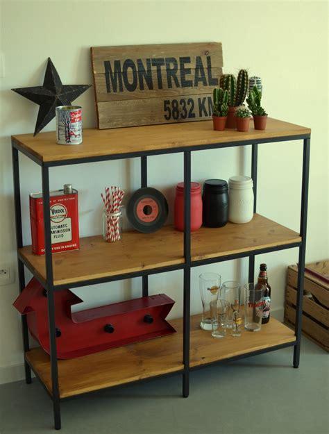 table cuisine style industriel table basse planche bois 4 fabriquer des 233tag232res