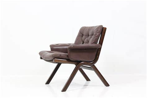Scandinavian Westnofa Armchair In Leather, Ingmar Relling
