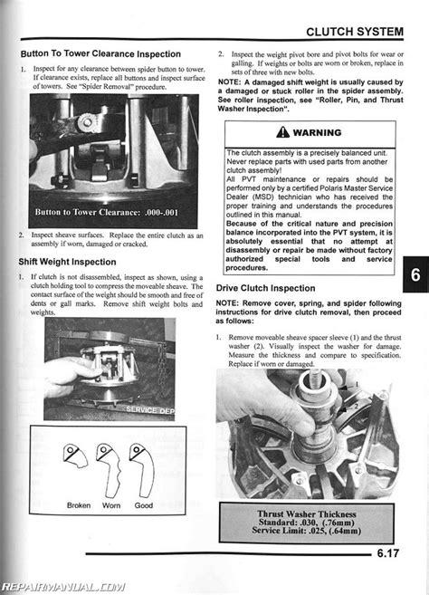 Polaris Sportsman Efi Atv Repair Manual
